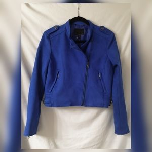 New Banana Republic Vegan suede moto jacket